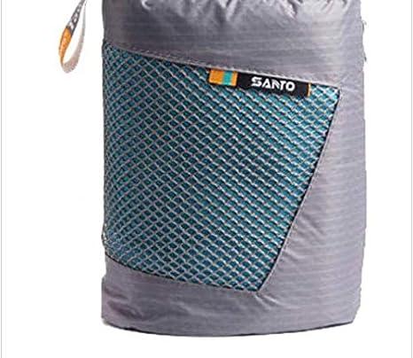 PANGUN Toalla De Playa De Microfibra De Rápido Seco Deportes con Bolso para Viaje Yoga Senderismo Llevar Compacto-Azul Claro: Amazon.es: Hogar