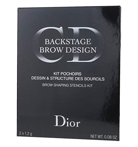 Christian Dior Backstage Brow Design Brow Shaping Stencils Kit 0.08oz New In ()