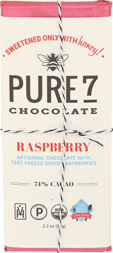 Pure7, Honey Sweetened Raspberry Chocolate Bar, Paleo (2 oz.)