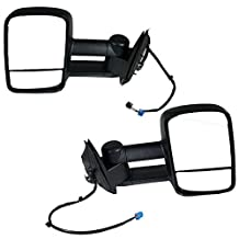 2003-2004-2005-2006-2007 Chevy/GMC Silverado/Sierra 1500 2500 3500 Pickup Truck Upgrade Power Heated Towing Mirrors Pair Set Left Driver Side and Right Passenger Side (03 04 05 06 07) by Aftermarket Auto Parts