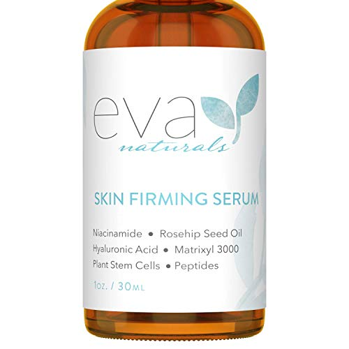 Eva Naturals Skin Firming Serum (1oz) - Day or Night Serum Instantly Firms Loose Skin and Refines Wrinkles - With Plant-Derived Amino Acids, Hyaluronic Acid, Peptides and Niacinamide - Premium Quality
