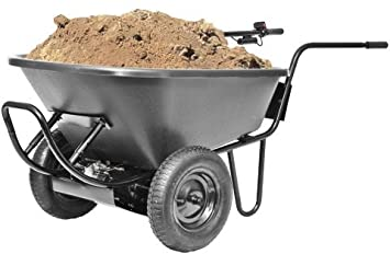 Amazoncom Electric Battery Power Wheelbarrow 300lb Capacity