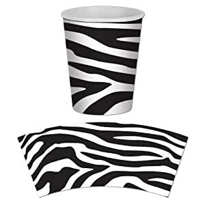 Zebra Print Beverage Cups Party Accessory (8 count)