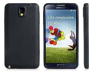 Funda de silicona protectora para el Samsung Galaxy Note 3 (Negro)