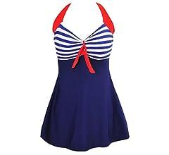 Summer Mae Traje de baño 1 Pieza Tallas Grandes Cabestro Acolchado Push Up Tankini para Mujer