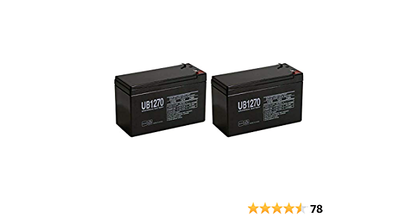 Powersonic 12V 7AH UPS Battery Replaces Vision CP1270 F2 CP 1270 F2 MK ES7-12 T2