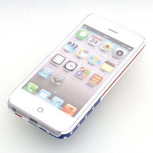 ECENCE Apple iPhone SE / 5 5S Hard case schutz hülle handy tasche cover schale USA Flagge 22040403