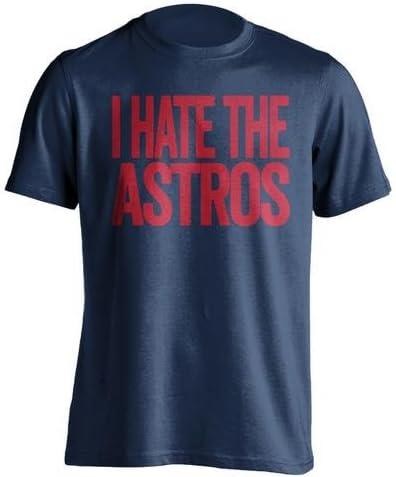 I Hate la Astros – Texas Rangers Fan camiseta – diseño de texto – carne de vacuno camisas: Amazon.es: Deportes y aire libre
