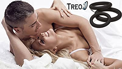 TCSR Silicone Cock, Penis Ring For Male - 3 Different Size - For Better Sex, Stronger Erections & Better Blood Flow