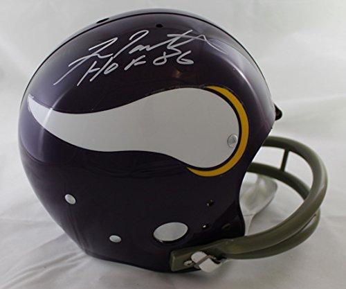 Fran Tarkenton Autographed Minnesota Vikings TK Helmet HOF JSA (Helmet Vikings Autographed Replica Minnesota)