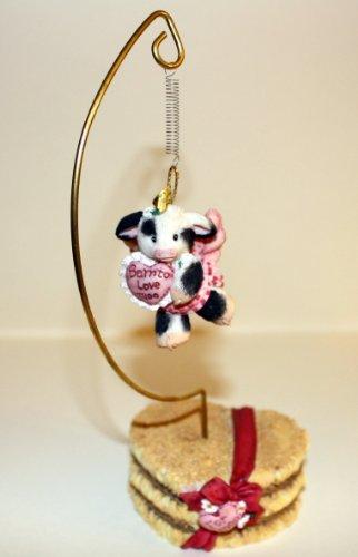 Mary's Moo Moos Girl Heart Ornament 159425