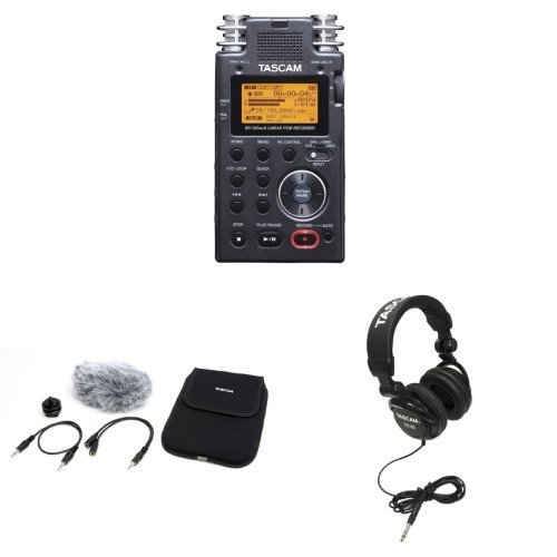 tascam-dr-100mkii-2-channel-portable-digital-recorder-with-tascam-accessories-bundle