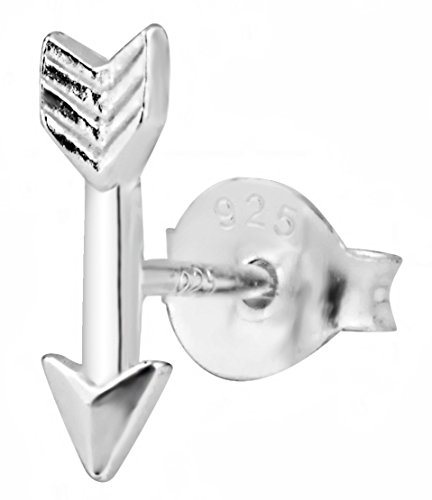 Forbidden Body Jewelry .925 Sterling Silver Tiny Arrow Cartilage Stud Earring (Sold Individually)