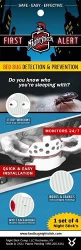 Bed Bug Night Stick, 1 Set of 4