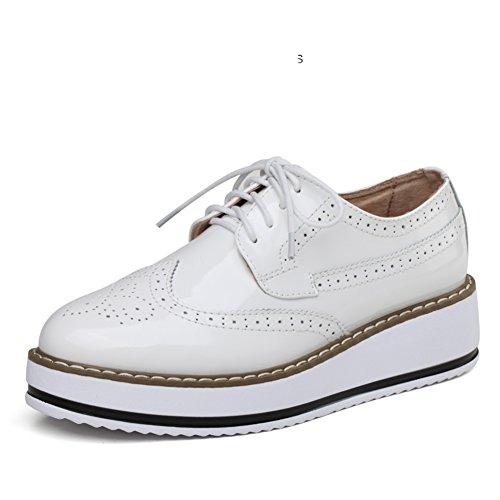 Suola A Donna Scarpe Inghilterra Primavera Piattaforma Spessa Vento Casuale zeppe scarpe Con Scarpe La calzature Bloch 6w6HZIq