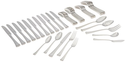 (Lenox Portola Stainless Steel 65-piece Flatware Set)