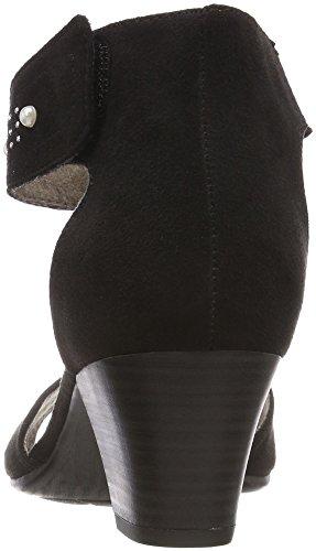 Black Pulsera con Negro Sandalia 28311 Mujer Jana para wBq07vxtP