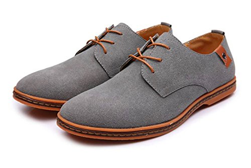 2018 Mixed Genuine Shoes Fashion up Oxford Casual Leather Gray Urban Classic Lace 4trtOxqn