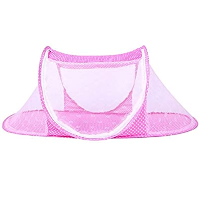 JUMUU Thin Summer Mosquito Net for Children ,Portable Folding Baby Travel Bed Crib Baby Cots Newborn Foldable Crib