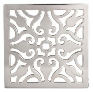 Newport Brass 233 404 Decorative Drains 4u0026quot; Square Shower Drain Grid,  Polished Chrome