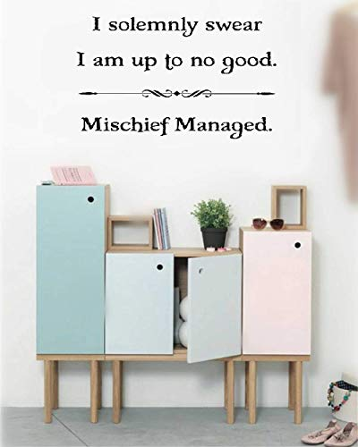 Wall Stickers Inspiring Quotes Home Art Decor Decal Mural I Solemnly Swear I Am Up to No Good - Mischief Managed for Nursery Kids Room]()