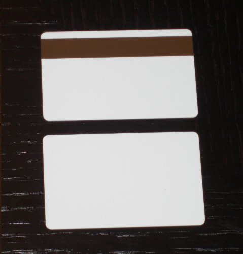 1000 CR80 30Mil White PVC Plastic Credit, Gift, Photo ID Cards With LoCo Magnetic Stripe (Loco Mag Stripe)