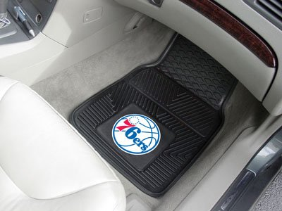 Fanmats NBA - Philadelphia 76ers 2-pc Vinyl Car Mat Set/17