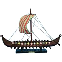 "Hampton Nautical Viking Drakkar Ship, 14"""