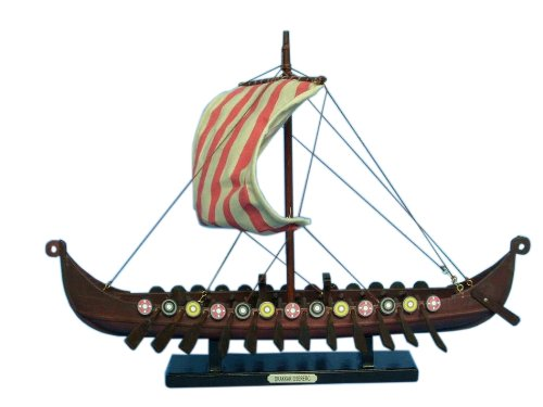 Hampton Nautical  Viking Drakkar Ship, 14""