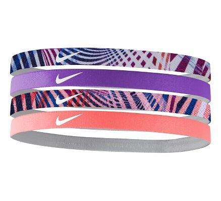 Nike Girls Assorted Headband 4 pack Blue/Berry/Sunblush
