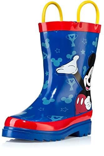 - Disney Mickey Mouse Blue and Red Rain Boots - Size 8 Toddler