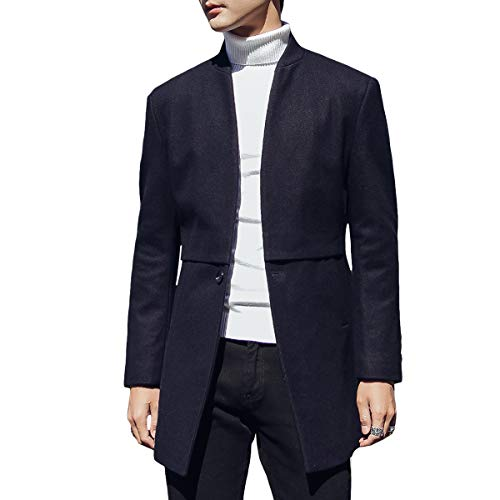 Fit Hiver Coat Sliktaa Casual En Long Laine Slim Manteau Trench xl 4 Veste Chaud Couleurs Parka Marine Xxs Homme t8Pwpq8