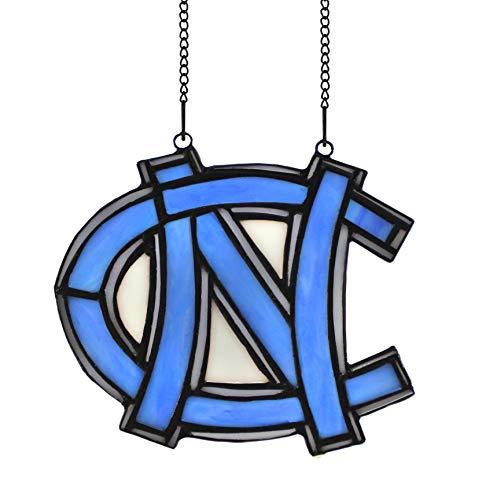 Alivagar NCAA Logo University of North Carolina Stained Glass Ornament, 6