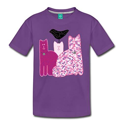 Spreadshirt Miranda Sings Merch Favorite Cats Kids' Premium T-Shirt, Youth L, Purple -
