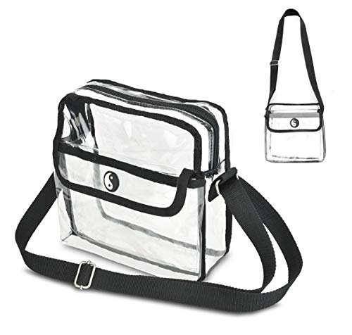 Premium Quality Clear Crossbody Bag- Meets All Rules & Regulations for the Game, Concert or Work