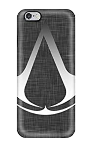 New Arrival Covers Cases With Nice Design For Iphone 6 Plus- Assassins Creed Logo White