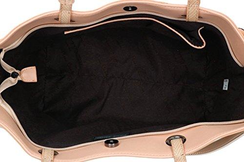 Borsa donna spalla con tracolla PIERRE CARDIN rosa con apertura zip VN1744