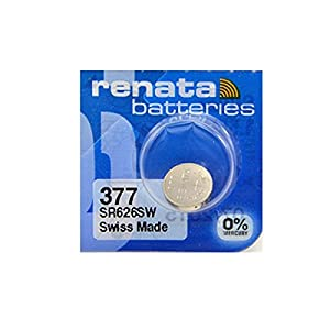 Renata #377 Silver Oxide Battery – 5 Pack