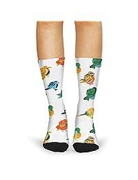 Women's Bernese Pet Dog floral compression slipper socks cutebike calf socks