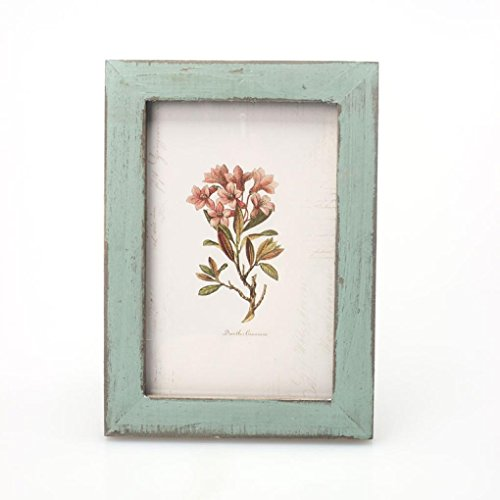 Photo Frame, Sandistore Vintage Photo Frame Home Decor Wooden Wedding Casamento Pictures Frames (Blue)