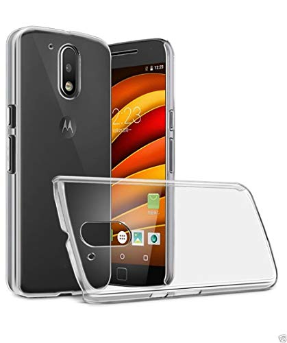 ECellStreet Soft Silicone Transparent Crystal Clear Back Cover for Motorola Moto G4 Plus  4th Generation