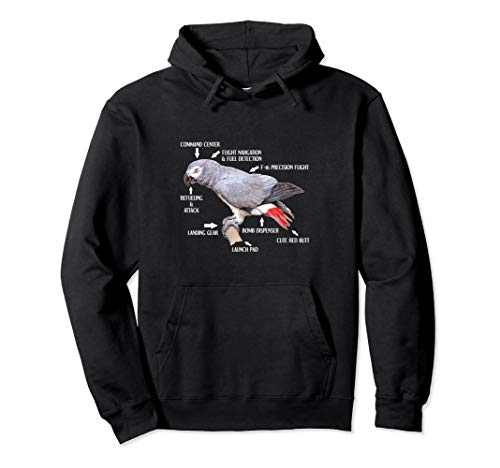 Anatomy Of An African Grey Parrot Bird Gift Pullover Hoodie