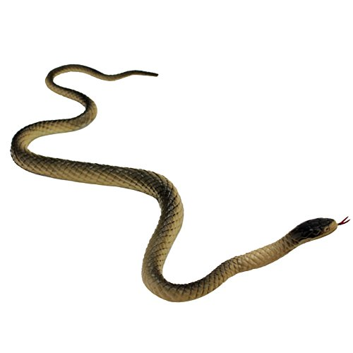 Realistic Manmade Soft Rubber Animal Fake Snake Garden Props Joke Prank Toy]()
