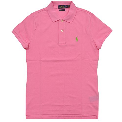 Polo Ralph Lauren Womens Skinny Fit Mesh Polo Shirt (XL, Heritage Pink)