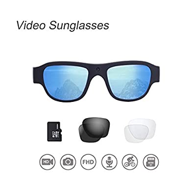 OHO Video Sunglasses, 16GB 1080P Outdoor Sports Action Camera with Built in 16MP Camera and Polarized UV400 Protection Safety Lens