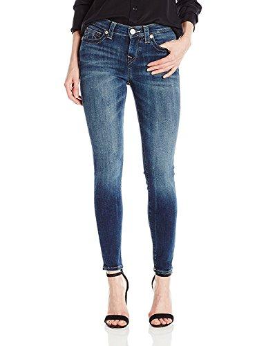 (True Religion Women's Halle Mid Rise Skinny Jean, Oceana Blue 26)