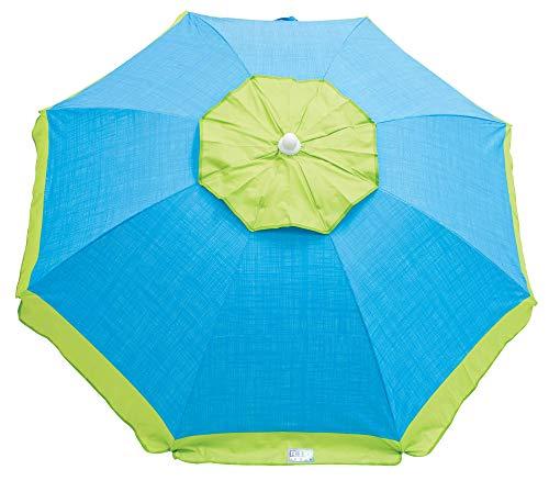 (RIO Brands 6-Foot UPF 50+ Tilt Beach Umbrella with Wind Vent, Multi)