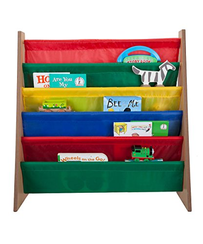 saganizer 5 pockets book shelf and magazine rack toddler-sized book rack for kids and book organizer for adults