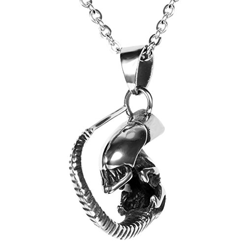 Flongo Gothic Stainless Pendant Necklace