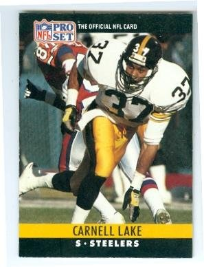 a0d093f7110 Image Unavailable. Image not available for. Color  Carnell Lake football  card (Pittsburgh Steelers All Pro) 1990 Pro Set ...